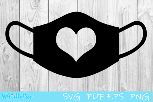 Print on Demand: Face Mask Heart Graphic Crafts By Whistlepig Designs