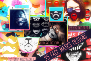 Face Mask Bundle with 95 Designs Graphic Crafts By Craft-N-Cuts