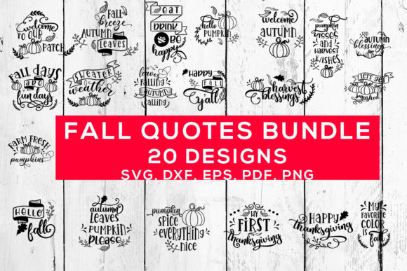 Print on Demand: Fall Quotes Bundle  By Sintegra
