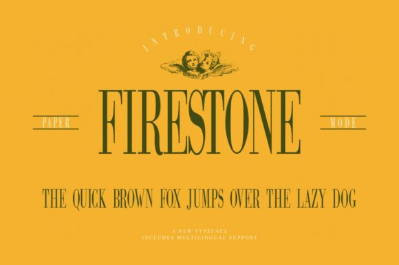 Print on Demand: Firestone Serif Font By Papermode Co.