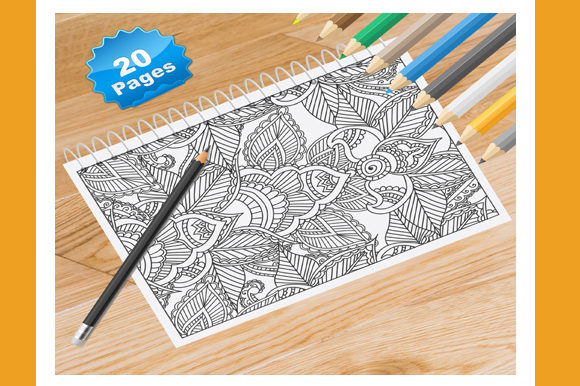Flower Adults Full Page Colouring Pages Graphic Coloring Pages & Books Adults By Coloring World - Image 1