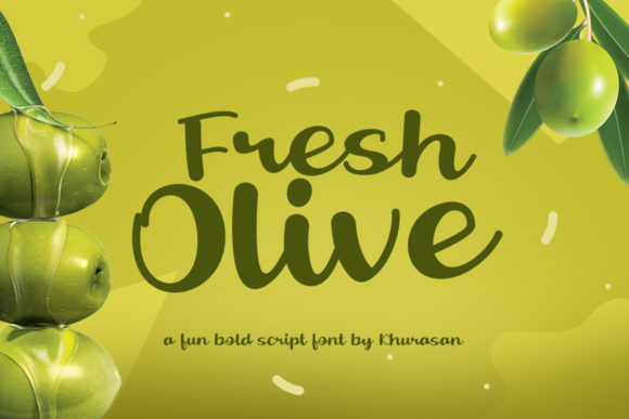 Print on Demand: Fresh Olive Script & Handwritten Font By Khurasan