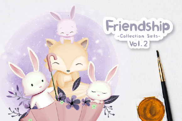 Friendship Collection Sets Vol.2 Graphic Illustrations By alolieli