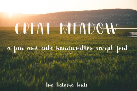Print on Demand: Great Meadow Script & Handwritten Font By Ira Natasha