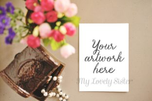 Print on Demand: Greeting Card, Mockup, Rustic, Clip Art Graphic Product Mockups By SunflowerLove