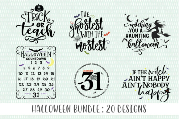Print on Demand: Halloween SVG Bundle Graphic Crafts By Simply Cut Co