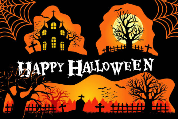 Print on Demand: Halloween Set of Horror Graphic Illustrations By edywiyonopp