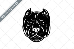 Print on Demand: Head of Pit Bull or Pitbull Front Graphic Illustrations By patrimonio
