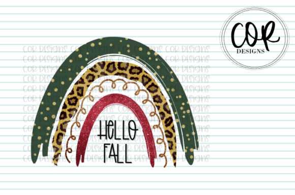 Print on Demand: Hello Fall Rainbow Graphic Crafts By designscor