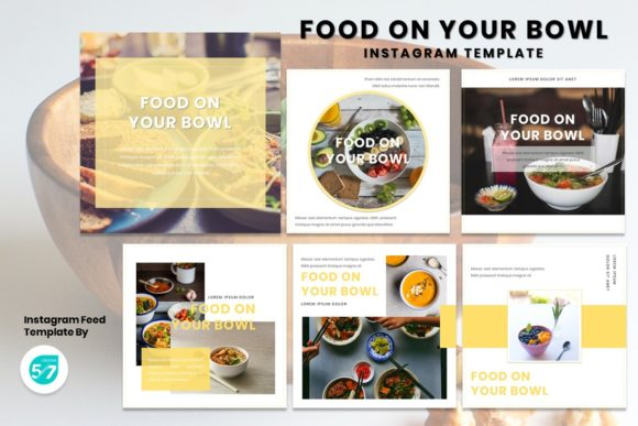 Instagram Feed - Food on Your Bowl Graphic Presentation Templates By 57creative