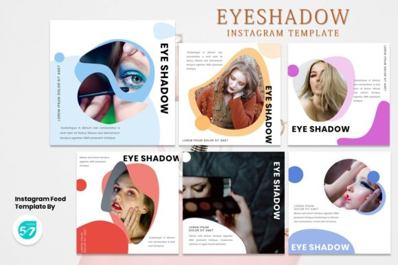 Instagram Feed Template - Eyeshadow Graphic Presentation Templates By 57creative