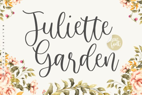 Print on Demand: Juliette Garden Script & Handwritten Font By Balpirick