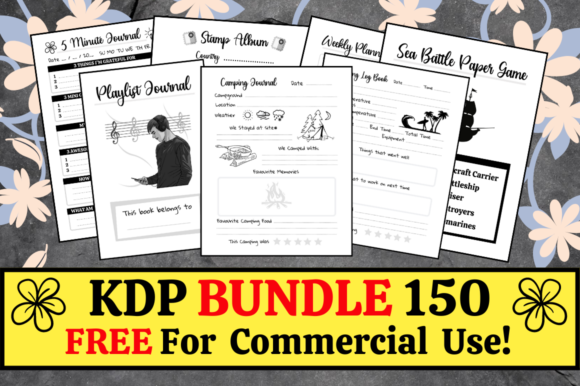Print on Demand: KDP Bundle Pack 150 Templates + Extras Graphic KDP Interiors By KDP Mastermind