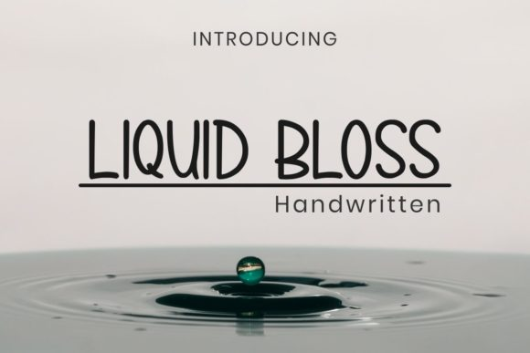 Print on Demand: Liquid Bloss Script & Handwritten Font By Pidco.art