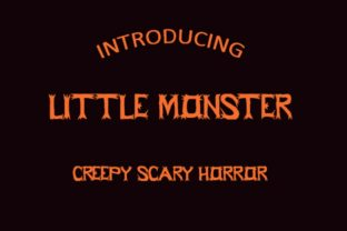 Print on Demand: Little Monster Display Font By Hardiboy Design