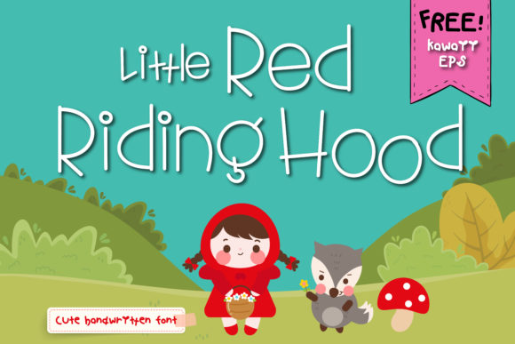 Print on Demand: Little Red Riding Hood Script & Handwritten Font By vividdiy8