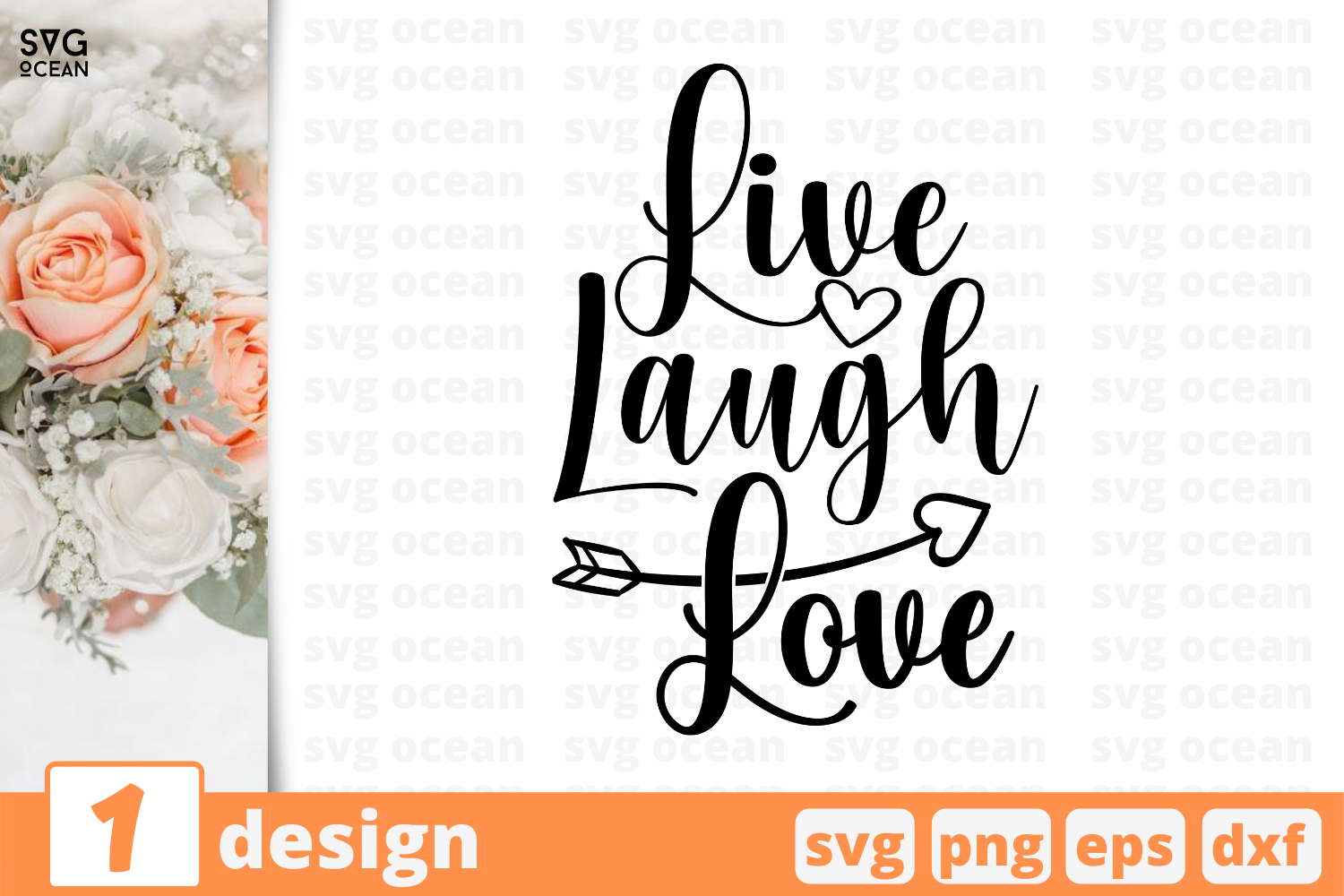 Live Laugh Love Graphic By Svgocean Creative Fabrica