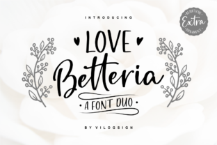 Print on Demand: Love Betteria Script & Handwritten Font By Vilogsign