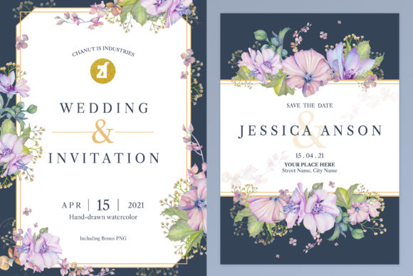 Mallow Wedding Invitation Graphic Graphic Print Templates By Chanut is industries