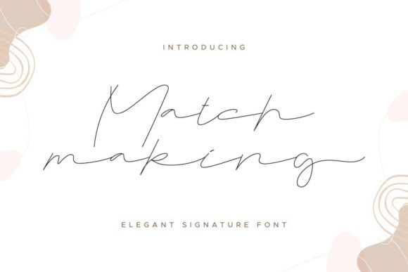 Print on Demand: Matchmaking Script & Handwritten Font By EdricStudio