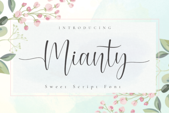 Print on Demand: Mianty Script & Handwritten Font By AV Type