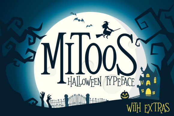 Print on Demand: Mitoos Halloween Display Font By svgsupply