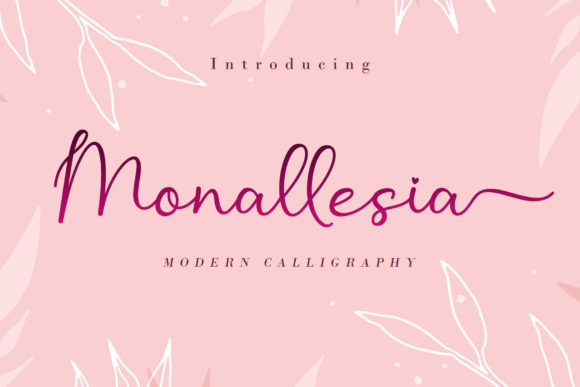 Print on Demand: Monallesia Script & Handwritten Font By AEN Creative Studio