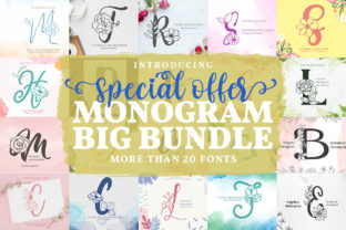 Monogram Fonts Big Bundle  By Monogram Lovers
