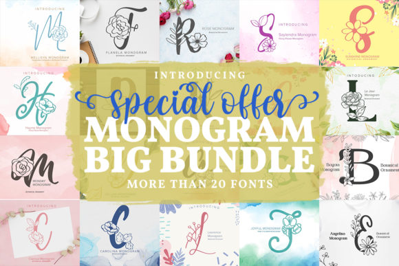 Monogram Fonts Big Bundle  von Monogram Lovers