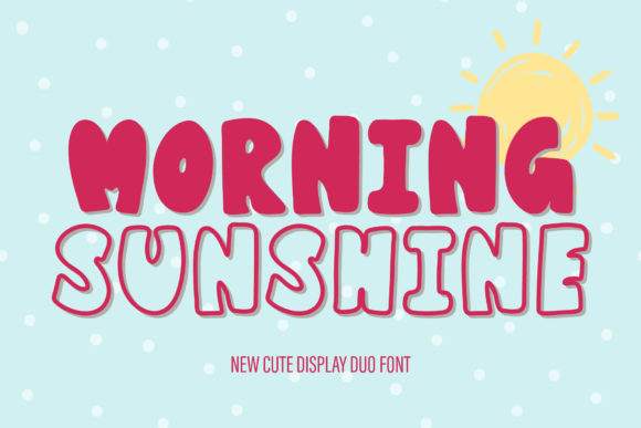 Print on Demand: Morning Sunshine Display Font By AquariiD
