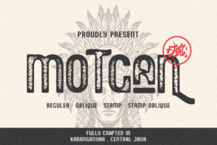 Print on Demand: Motgan Display Font By Fallengraphic