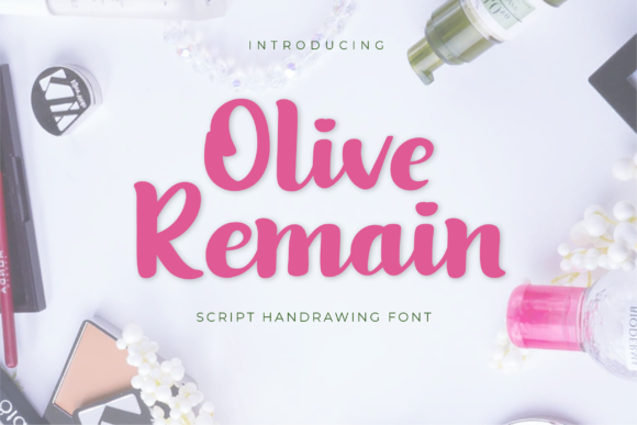 Print on Demand: Olive Remain Script & Handwritten Font By twinletter