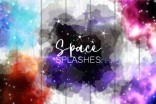 Print on Demand: Outer Space Cosmic Starry Night Splashes Graphic Backgrounds By Prawny