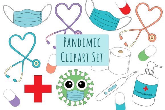 Pandemic Medical Healthcare Clipart Graphic Illustrations By StudioMelitta
