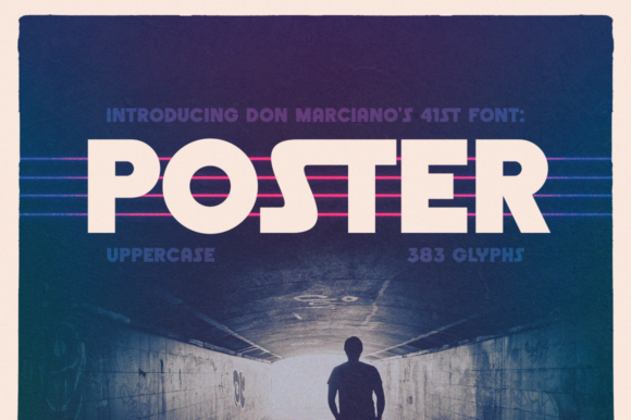 Print on Demand: Poster Display Font By DonMarciano