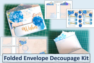 Print on Demand: Printable Decoupage Envelope Kit Graphic Crafts By The Paper Princess