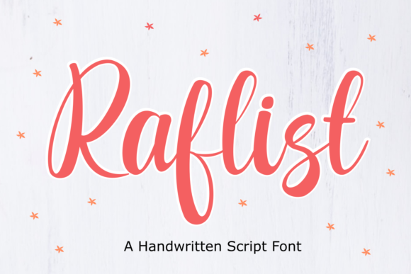 Print on Demand: Raflist Script & Handwritten Font By Rvandtype