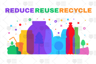 Print on Demand: Reduce Reuse Recycle Banner Graphic Illustrations By barsrsind