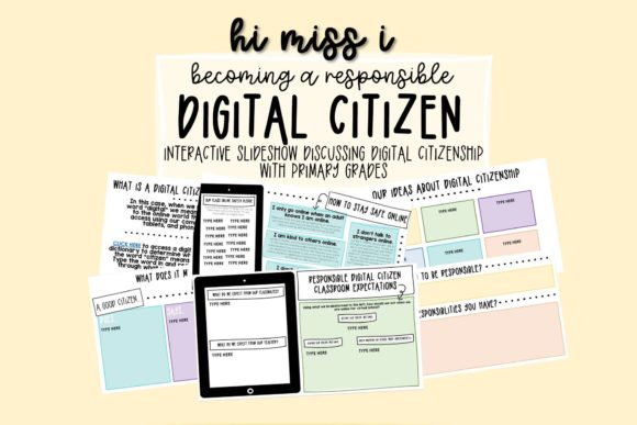 Responsible Digital Citizen Interactive Graphic 2nd grade By hi miss i
