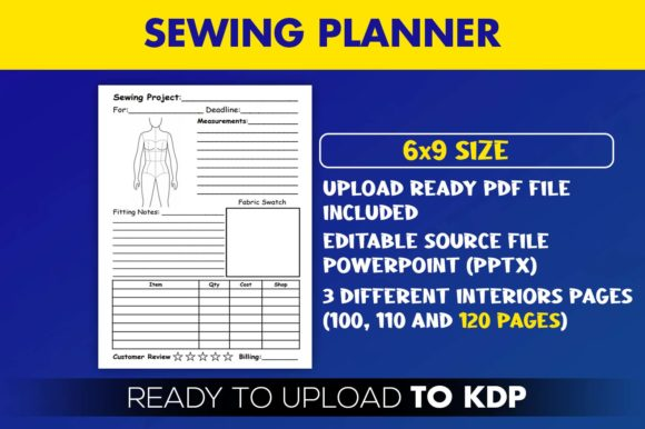 Print on Demand: Sewing Planner Journal | KDP Interior Graphic KDP Interiors By Beast Designer - Image 2