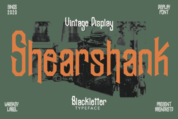 Print on Demand: Shearshank Blackletter Font By Arendxstudio