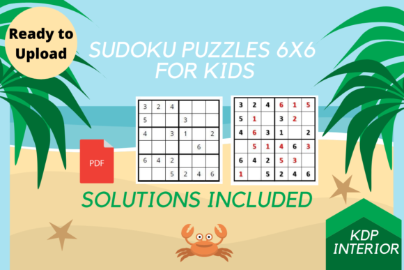 Print on Demand: SuDoKu  Puzzles Interior 6x6 for Kids Graphic KDP Interiors By Proobeyda