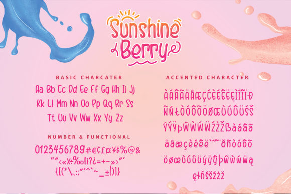 Print on Demand: Sunshine Berry Display Font By Hydric Design - Image 6