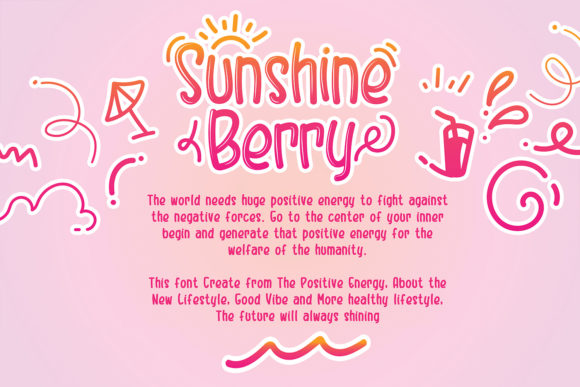 Print on Demand: Sunshine Berry Display Font By Hydric Design - Image 8
