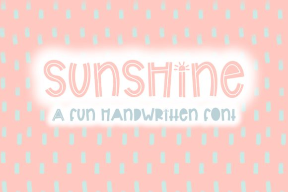Print on Demand: Sunshine Display Font By Fairways and Chalkboards