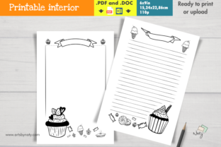 Print on Demand: Sweets and Candies Draw, Write and Color Graphic KDP Interiors By artsbynaty