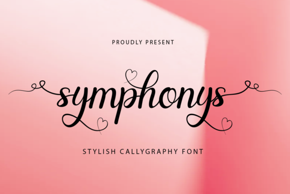 Print on Demand: Symphonys Script & Handwritten Font By koko.sample
