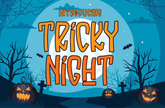 Print on Demand: Tricky Night Display Font By Typefar
