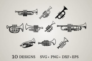Trumpet Bundle Graphic Print Templates By Euphoria Design