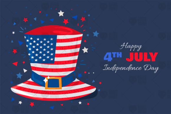 Print on Demand: USA Independence Day Illustration Graphic Illustrations By barsrsind